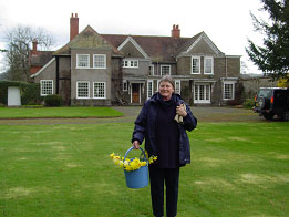 Sally Kington at Wilson's home, Middleton