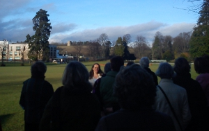 Tour group on Wenlock Olympian Society's Games Field